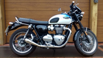 T100 Bonneville 900 Exhausts  Weslake Shorty Pro Slip on Stainless Steel. Liquid Cooled 17on'